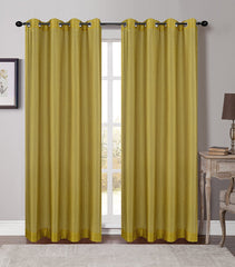 Soho Sheer Drapery Curtain Panels with Grommets - 5 Colors