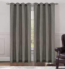 Tweed Set of 2 Sheer Drapery Curtain Panels with Grommets - 7 Colors