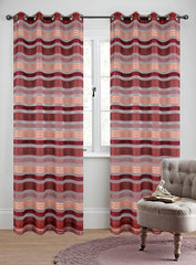 Becca Set of 2 Sheer Curtain Panels with Grommets - 5 Colors