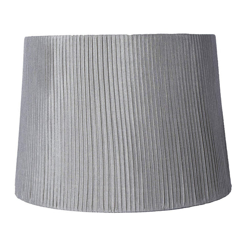 Urbanest Faux Silk Box Pleated Drum Lampshade, 12-inch By 14-inch By 10-inch, Spider Fitter
