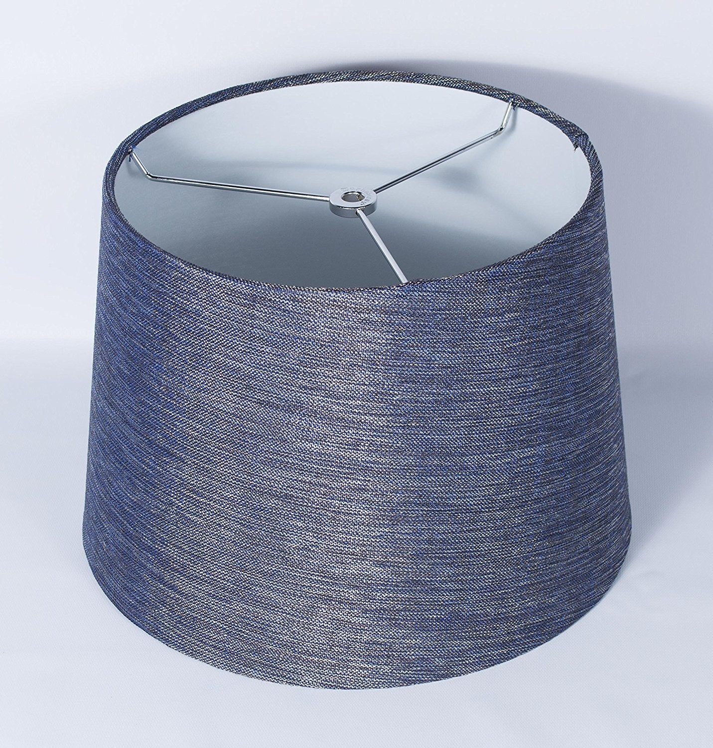 "Galaxy Hardback Drum Lampshade, 12x14x10"", Blue, Spider Fitter"