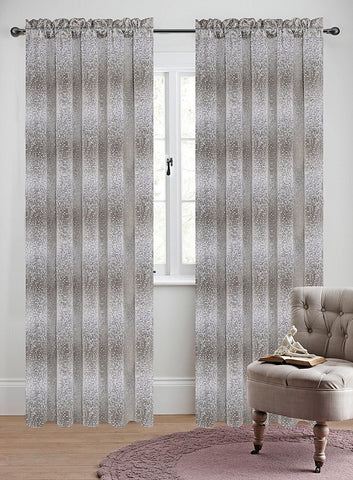 Set of 2 Jacquard Metro Drapery Curtain Panel - 4 Colors