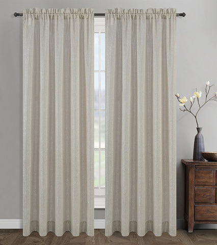 Cosmo Set of 2 Sheer Curtain Drapery Panels - 4 Colors