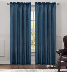 Tweed Set of 2 Sheer Drapery Curtain Panels - 7 Colors