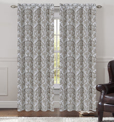 Jacquard Fern Drapery Curtain Panels - 4 Colors