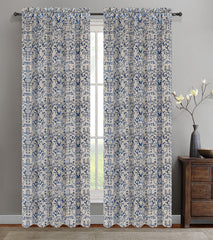 Set of 2 Jacquard Vine Drapery Curtain Panel - 4 Colors