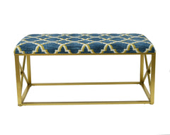 Vanderbilt Upholstered Metal Bench, 19 1/2-inch Tall