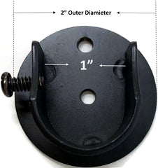 Set of 2 Inside Mount Brackets for 7/8-inch to 1-inch Curtain Rods