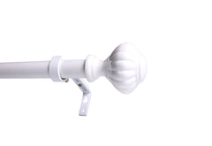 1-inch Diameter Doorknob Adjustable Single Drapery Curtain Rod