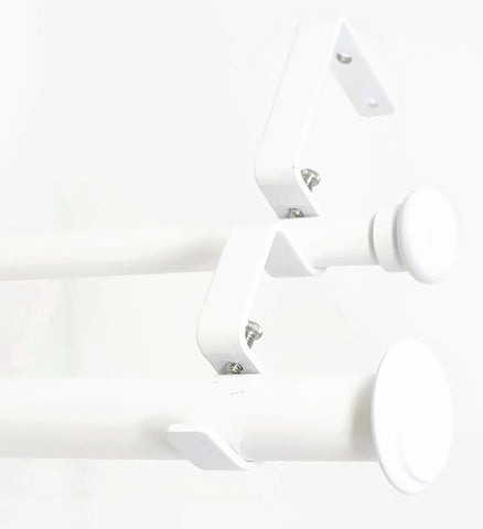 "Urbanest Bouton Flat Button 1"" 5/8"" Double Drapery Curtain Window Rod Set"