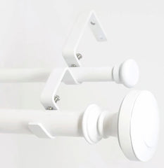 "Urbanest Semplice Flat Button 1"" 5/8"" Double Drapery Curtain Window Rod Set"
