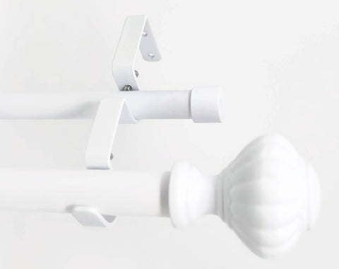 "Urbanest Door Knob Manhattan 1"" 3/4"" Double Drapery Curtain Window Rod Set"