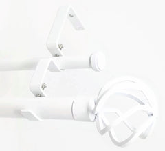 "Urbanest Zeffoli Manhattan 1"" 5/8"" Double Drapery Curtain Window Rod Set"