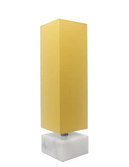 Urbanest Ardin Accent Table Lamp, White Marble Base, 14 1/4-inch Tall