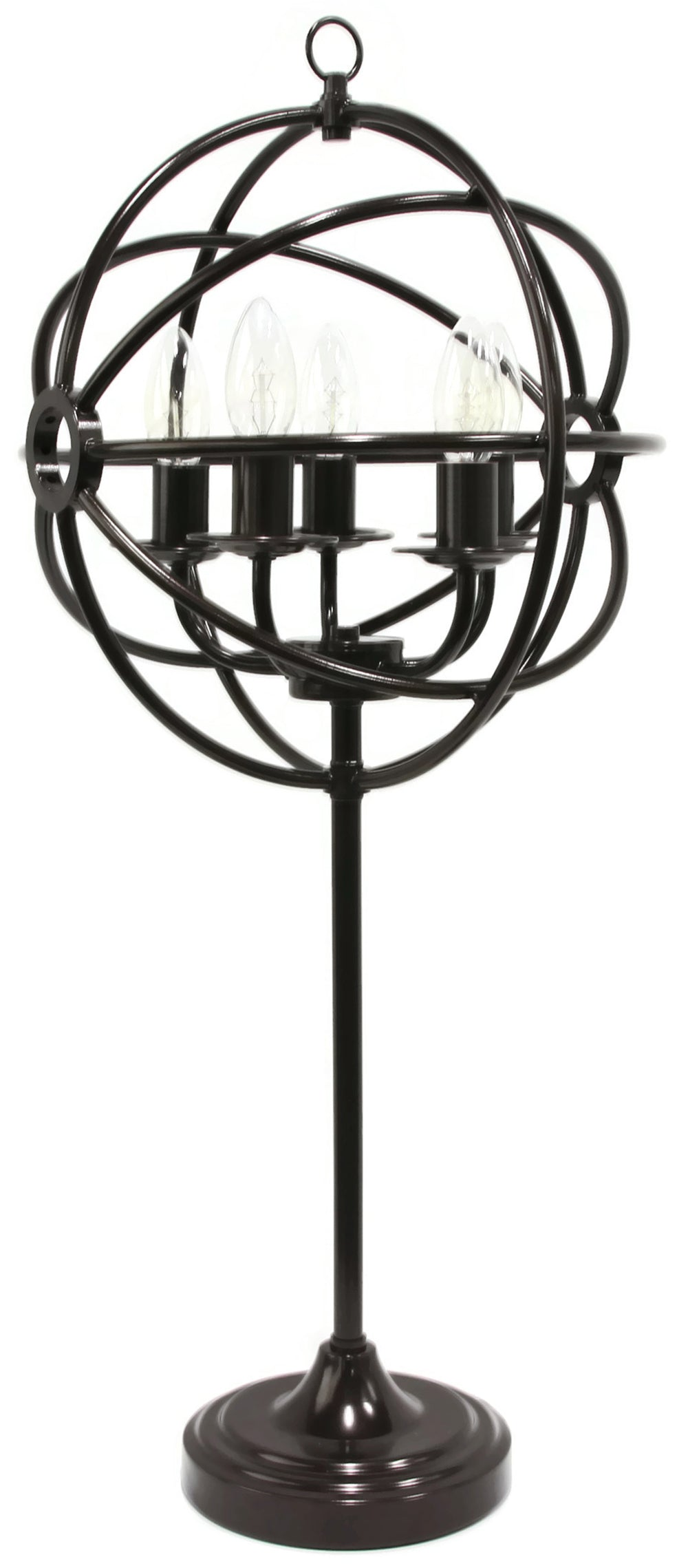 Bridgeport Industrial Style Metal 5-Light Table Lamp, 30 1/2-inch Tall