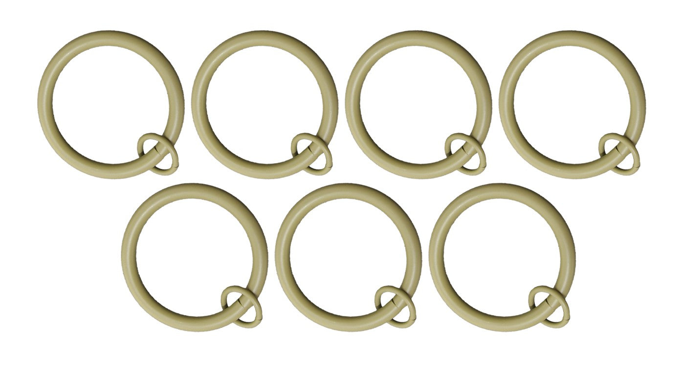 "1 1/2"" Metal Curtain Rings with Eyelets - 6 Finishes"