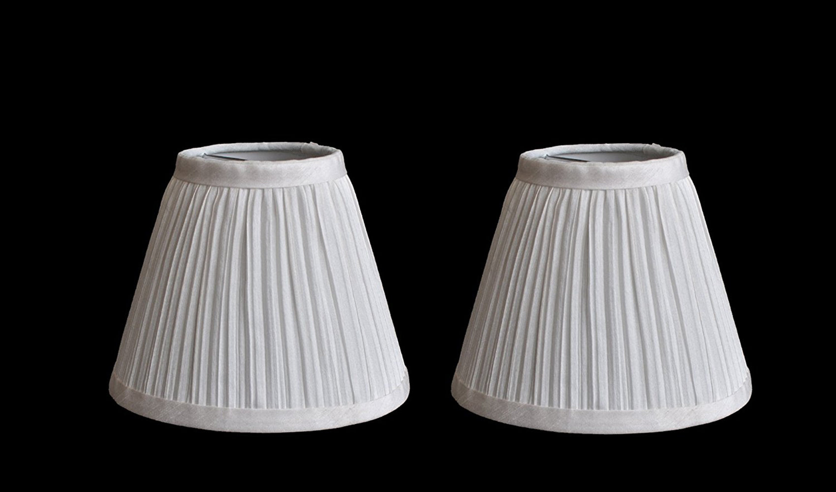 Random Mushroom Pleat 6-inch Chandelier Lamp Shade - 5 Colors