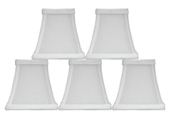 Square Silk 4-inch Chandelier Lamp Shade - 5 Colors