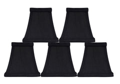Square Silk 5-inch Chandelier Lamp Shade - 5 Colors