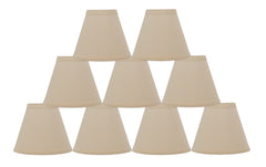 Linen 6-inch Chandelier Lamp Shade - 9 Colors