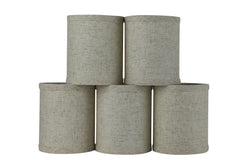 Linen 4-inch Drum Chandelier Lamp Shade - 4 Colors
