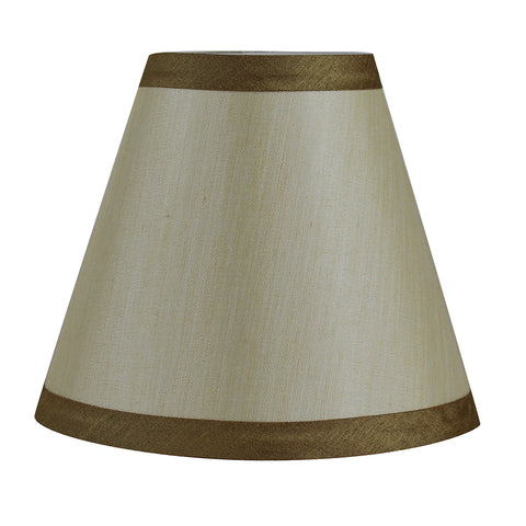 6 inch chandelier shades urbanest silk 6 inch chandelier lamp shade with gold trim 5 colors aloadofball Image collections