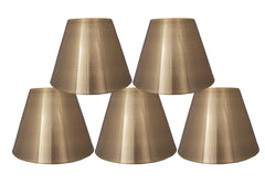 Metal 6-inch Chandelier Lamp Shade - 4 Finishes