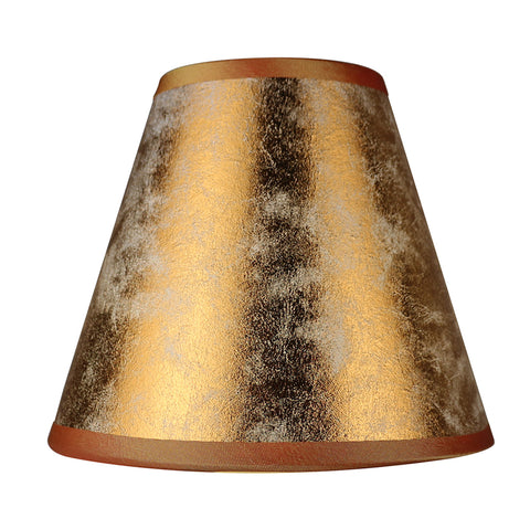 Foiled Paper 6 Inch Chandelier Lamp Shade   3 Colors