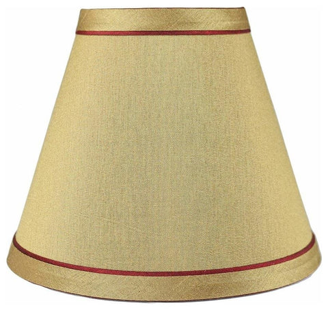 Urbanest Hardback Faux Silk Chandelier Lamp Shade with Trim, 3-inch by 6-inch by 5-inch, Clip-on