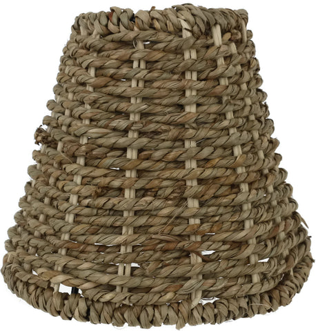 Natural Seagrass Chandelier Lamp Shades, Clip-on, 2 7/8-inch by 5 1/2-inch by 5-inch