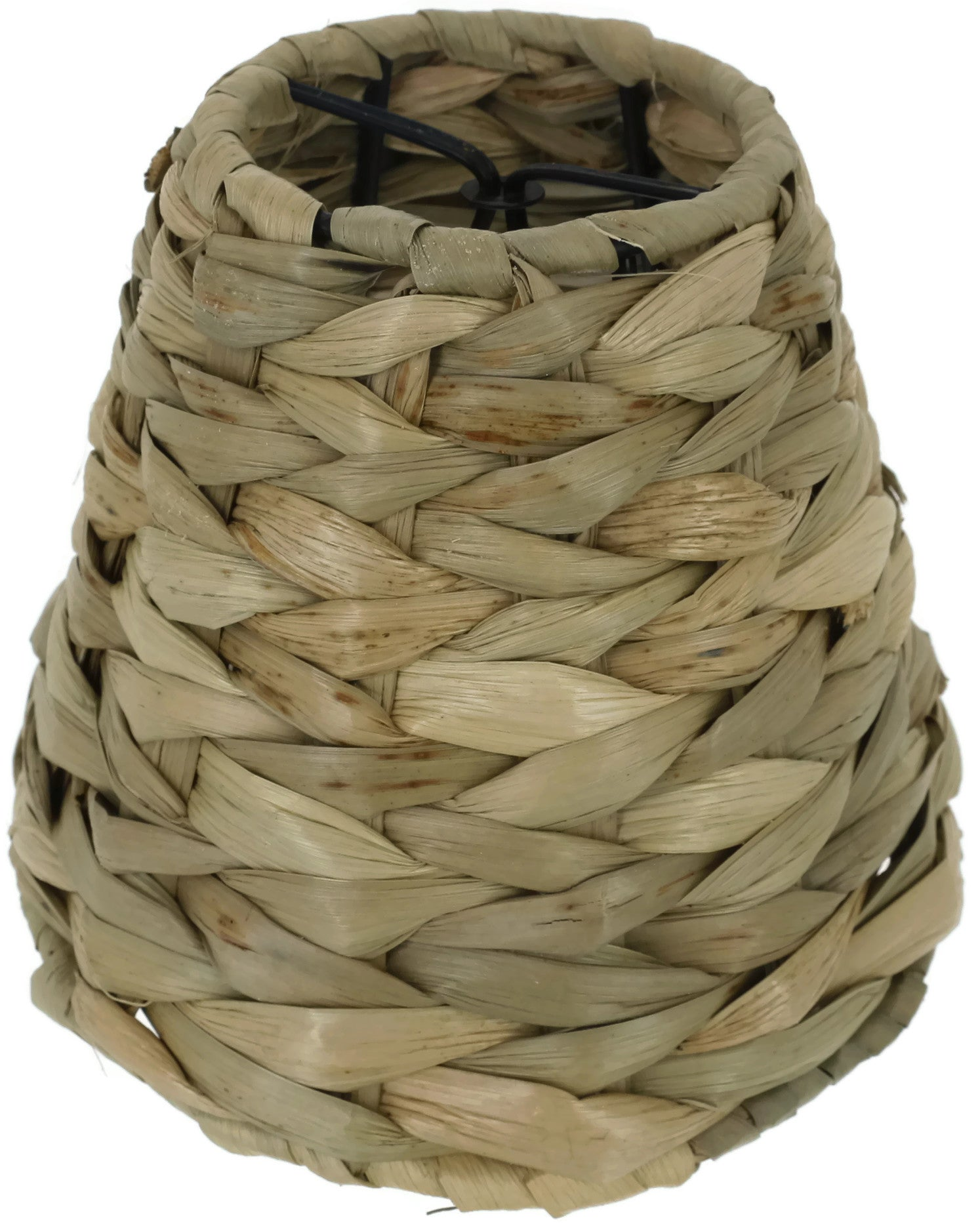 Natural Woven Seagrass Chandelier Lamp Shades, Clip-on, 3-inch by 6-inch by 5-inch