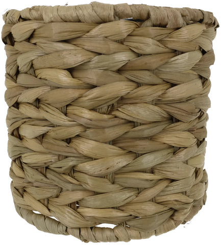 Natural Woven Seagrass Chandelier Drum Lamp Shades, Clip-on, 5-inch by 5-inch by 4 3/8-inch