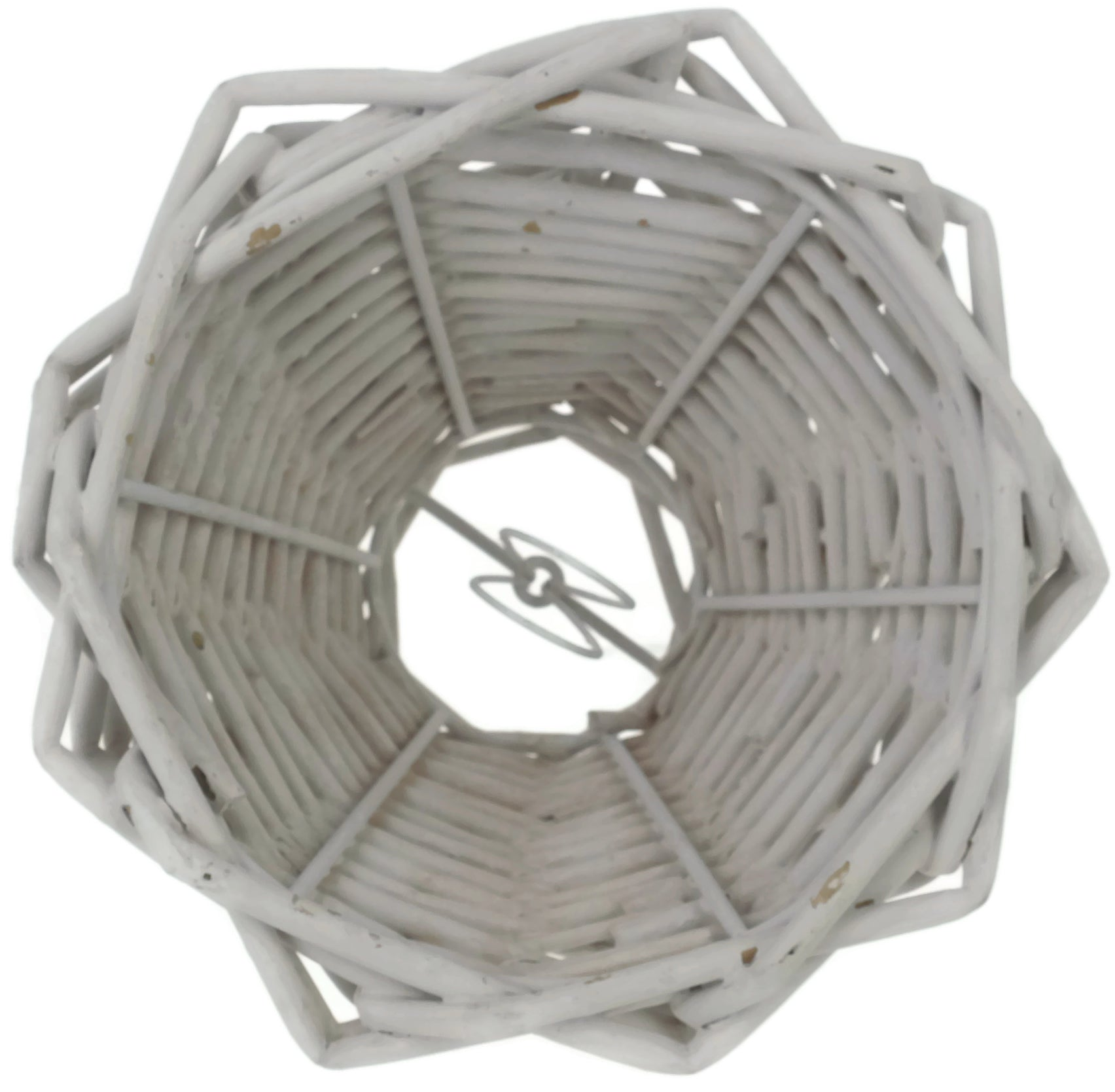 Wicker Chandelier Lamp Shade, 3-inch by 6-inch by 5-inch, Clip-on