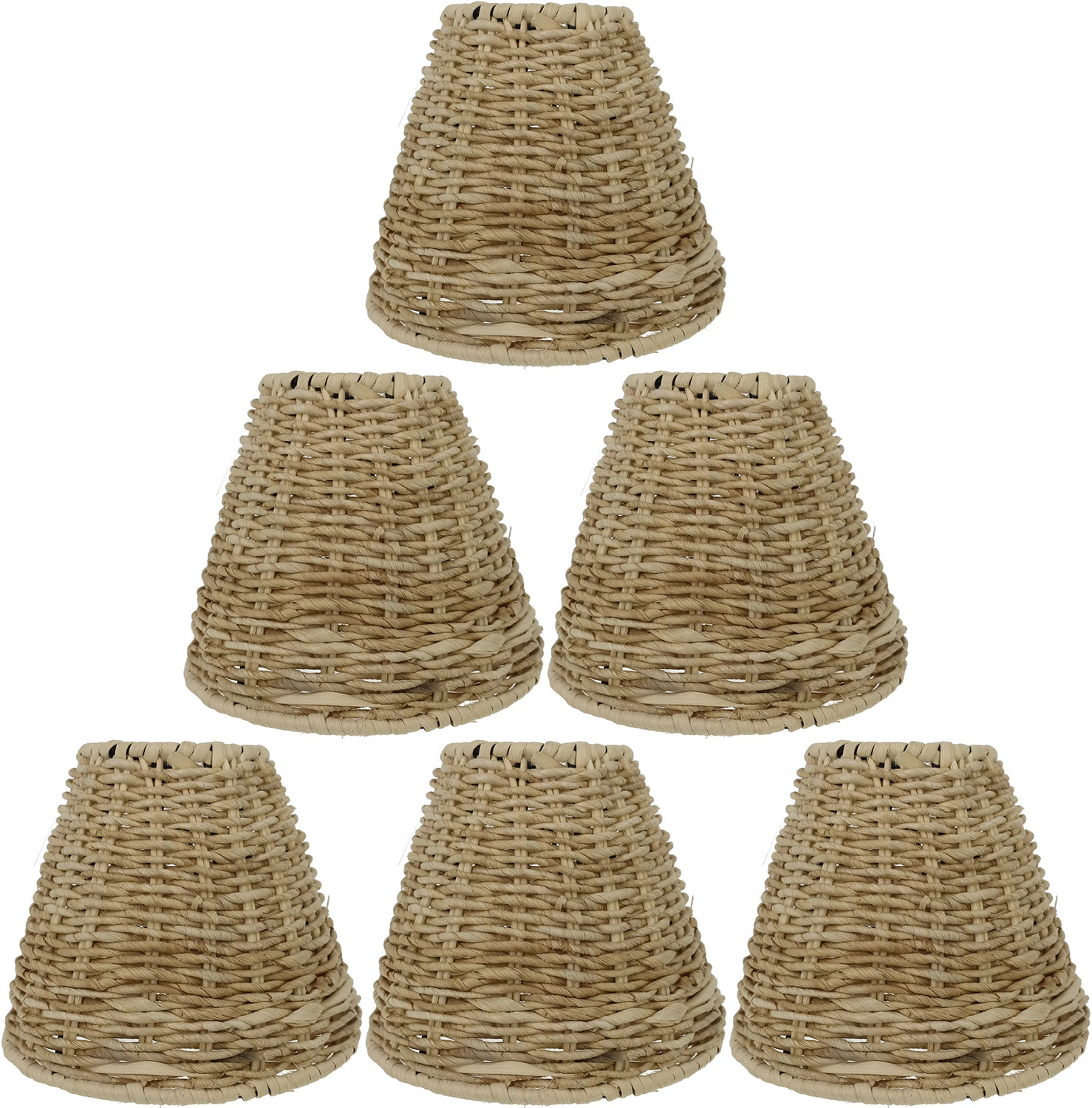 Natural Grass Chandelier Lamp Shades, Clip-on, 2 3/4-inch by 5 1/2-inch by 4 3/4-inch