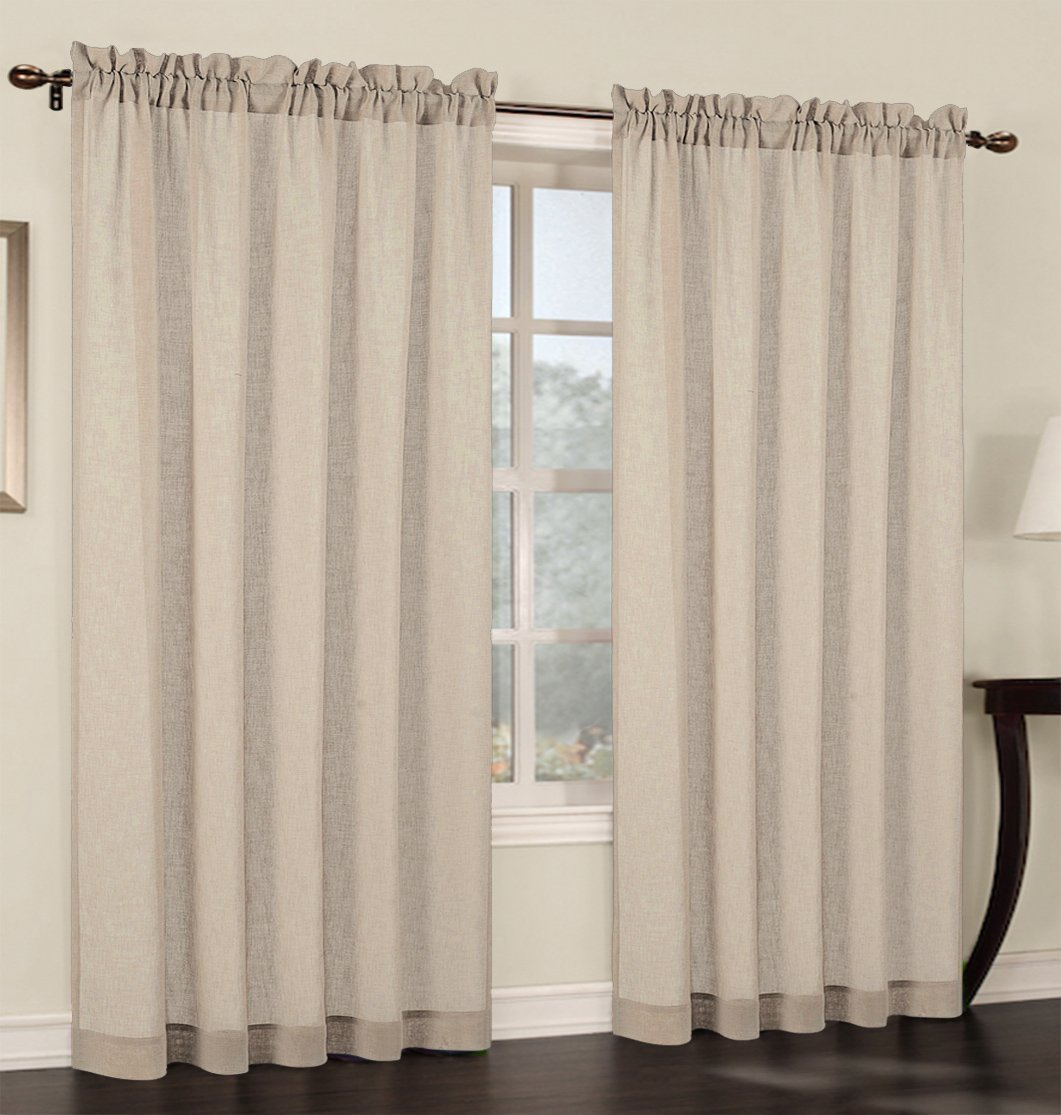 curtain embroidey curtains living sheer scroll infinity informative of fresh from a linen patterned pair gold room leaf faux www