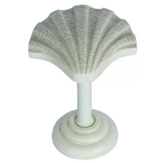 Shell Drapery Holdback Medallion - 3 Finishes