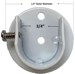 Set of 2 Inside Mount Brackets for 5/8-inch to 3/4-inch Curtain Rods