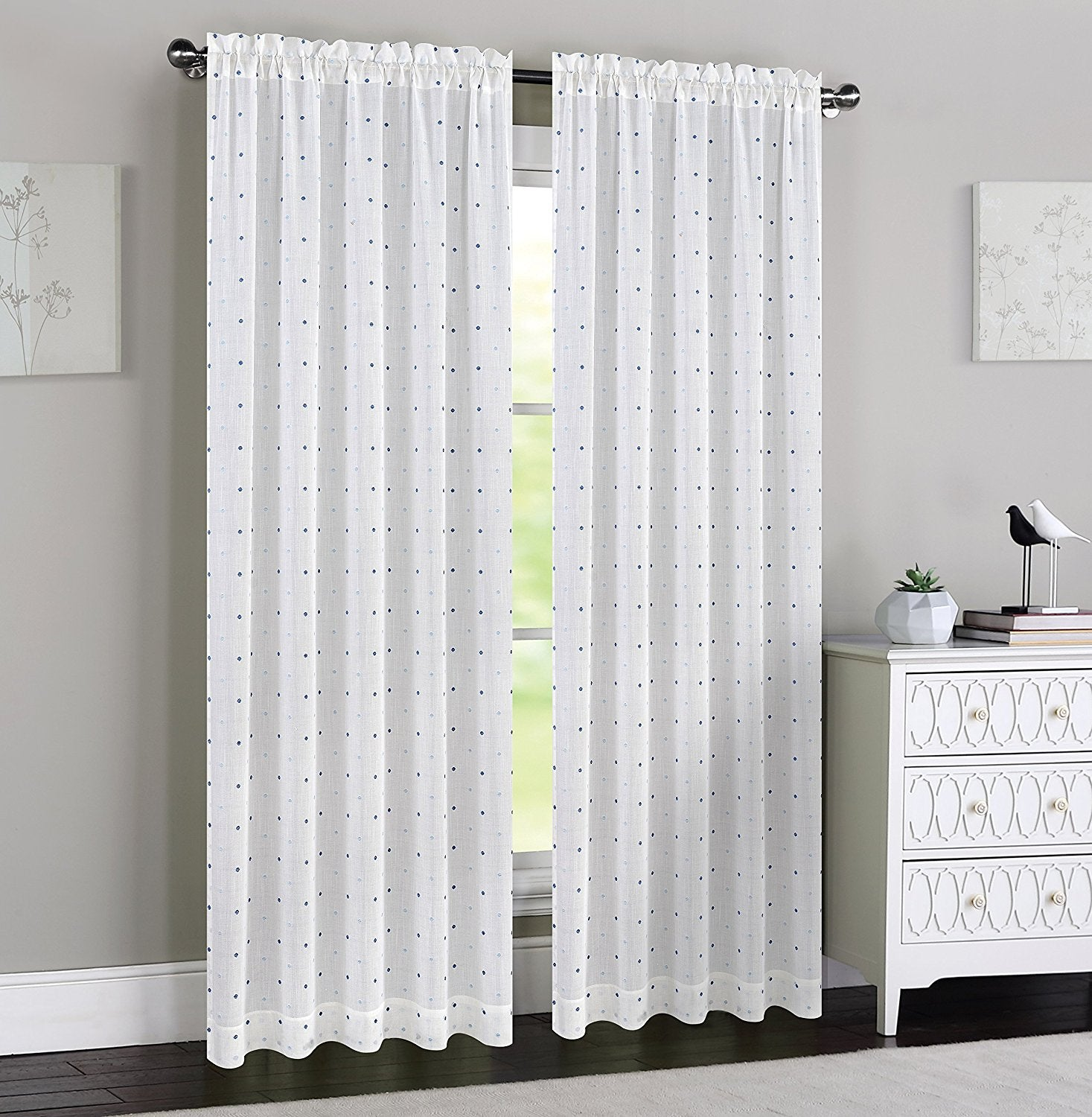 Madeline Set of 2 Sheer Curtain Panels - 4 Colors