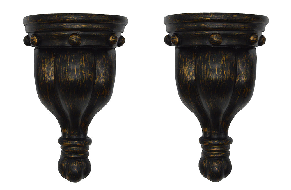 Rigaud Drapery Sconce, 1 3/4-inch Diameter