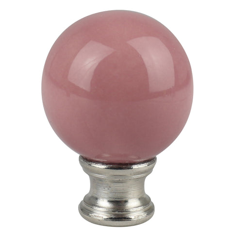 Ceramic Ball Lamp Finial - 9 Colors