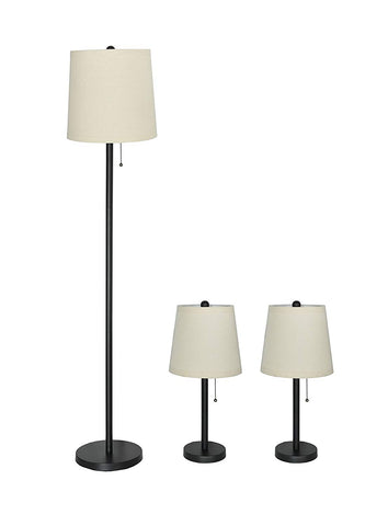 Lamon 3-piece Table and Floor Lamp Set