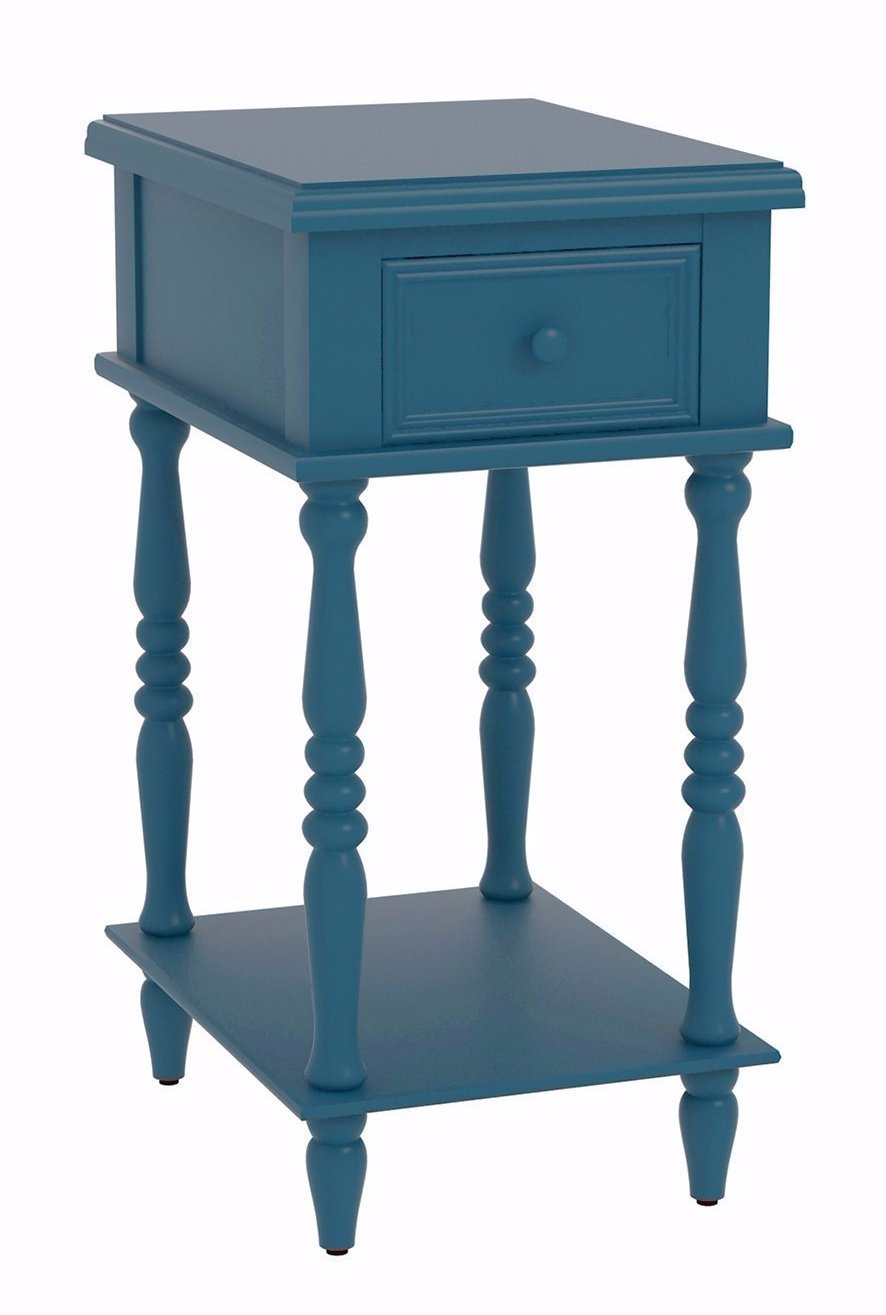 Adams Accent End Table With Drawer   6 Finishes