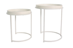 Whitney Set of 2 Metal & Wood Nesting Tables - 2 Finishes