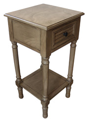 Brookdale End Table with Drawer, 28 1/4-inch Tall, 14 1/4-inch Wide, 14 1/4-inch Deep