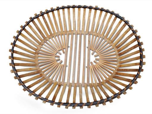Wooden Slatted Fruit Bowl