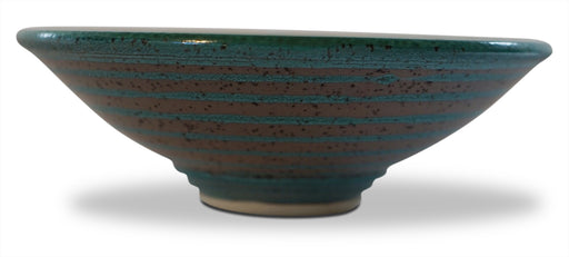 Teal Edged Bowl - Medium