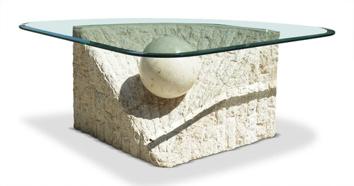 Plaster + Glass Coffee Table