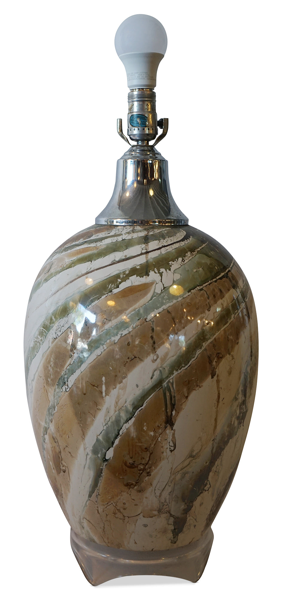 Marbled Glass Lamp