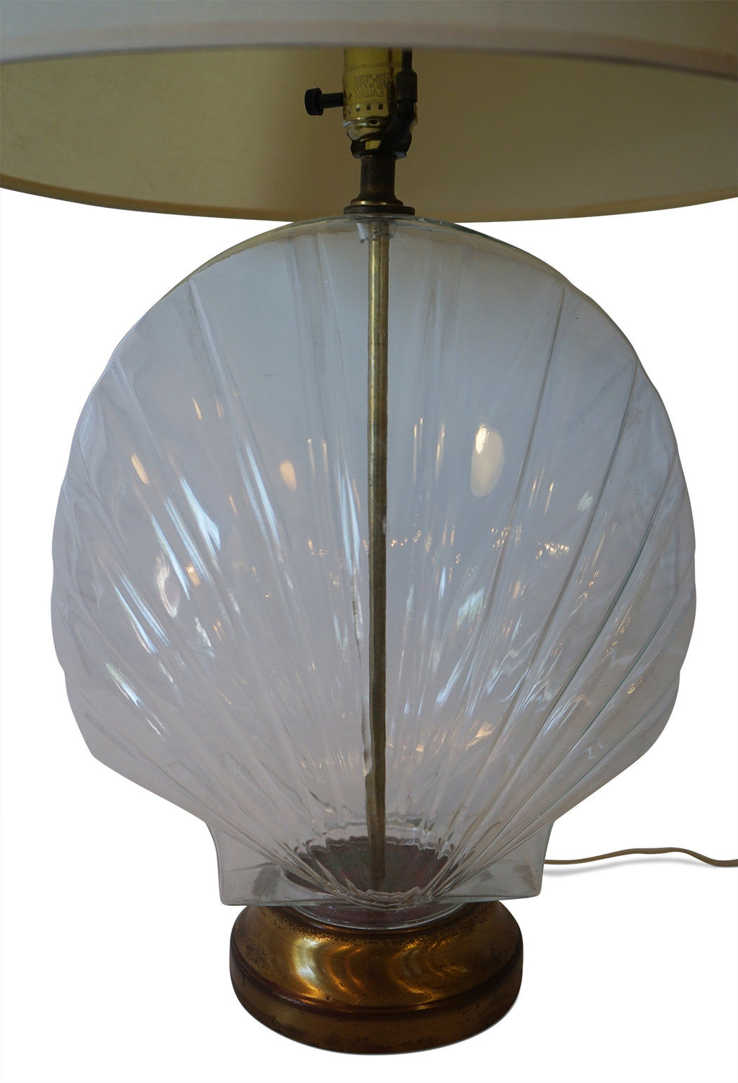 Glass Seashell Lamp