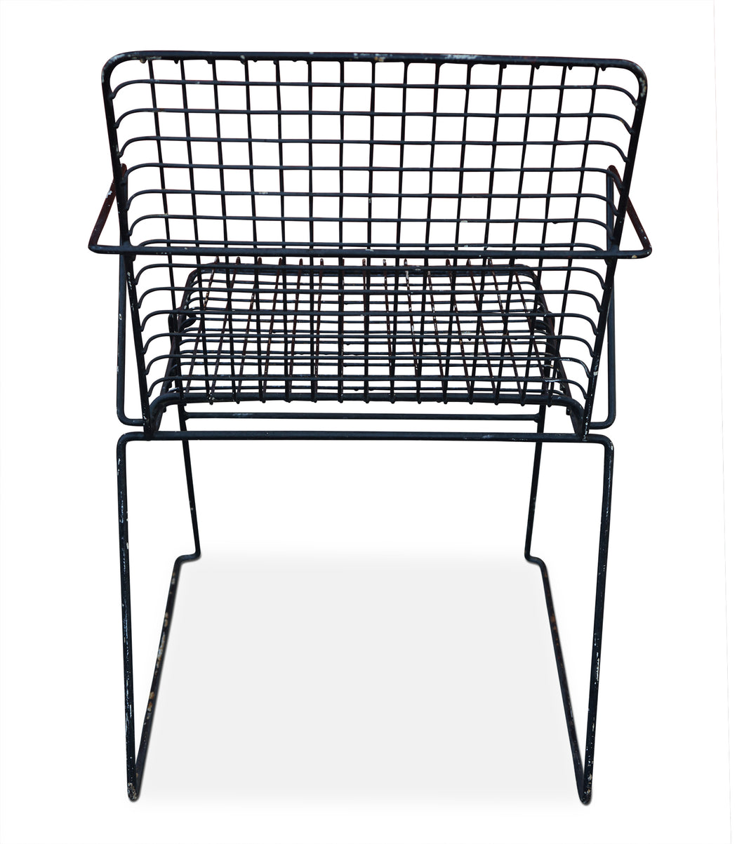 Black Metal Wire Chair